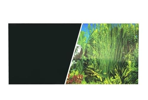 Marina Double Sided Aquarium Background, Plant Aquarium/Solid Black